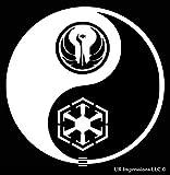 The Force???Jedi Sith陰陽デカールビニールsticker cars Trucks壁laptop white 5.5?in uri430