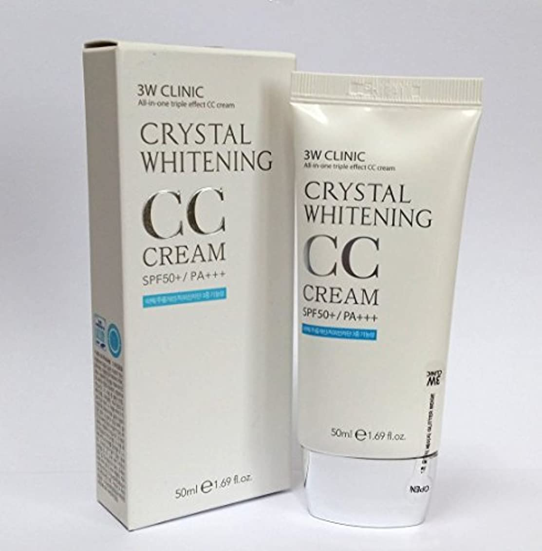 確認する多様体かなり[3W CLINIC] クリスタルホワイトニングCCクリーム50ml SPF50 PA +++ / #02 Natural Beige / Crystal Whitening CC Cream 50ml SPF50 PA...