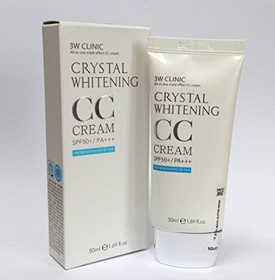 シチリア権限騒ぎ[3W CLINIC] クリスタルホワイトニングCCクリーム50ml SPF50 PA +++ / #02 Natural Beige / Crystal Whitening CC Cream 50ml SPF50 PA...