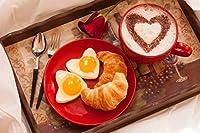 Sim、1000ピースのパズル木製ジグソーパズル、ぴったりの選択Lover 29.5X 19.6インチNobleness Present inボックスpresent-wrap : Love EggsローズコーヒーValentine Day