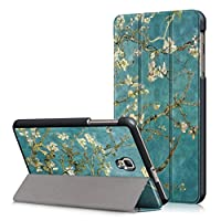 Samsung Galaxy Tab A 8.0 2017 Case, VMAE Folio Ultra Slim Lightweight Smart Stand Cover with Auto Sleep Wake Function for Galaxy Tab A 8.0 T380/T385 2017 Release - Apricot