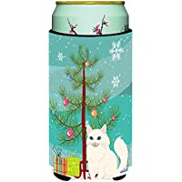 Carolines Treasures BB4413TBC Turkish Angora Cat Merry Christmas Tree Tall Boy Beverage Insulator Hugger