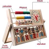 新しい子供ベビーキッズ学習Developmental万能フラップAbacus木製Toys