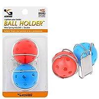 (two ball) - KOVISS Deluxe Golf Ball Clip Holder for Belt(Double)