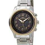 [テクノス]TECHNOS メンズ 腕時計 T0249SH SOLAR ソーラー電波時計 ブラック×ゴールド [並行輸入品]