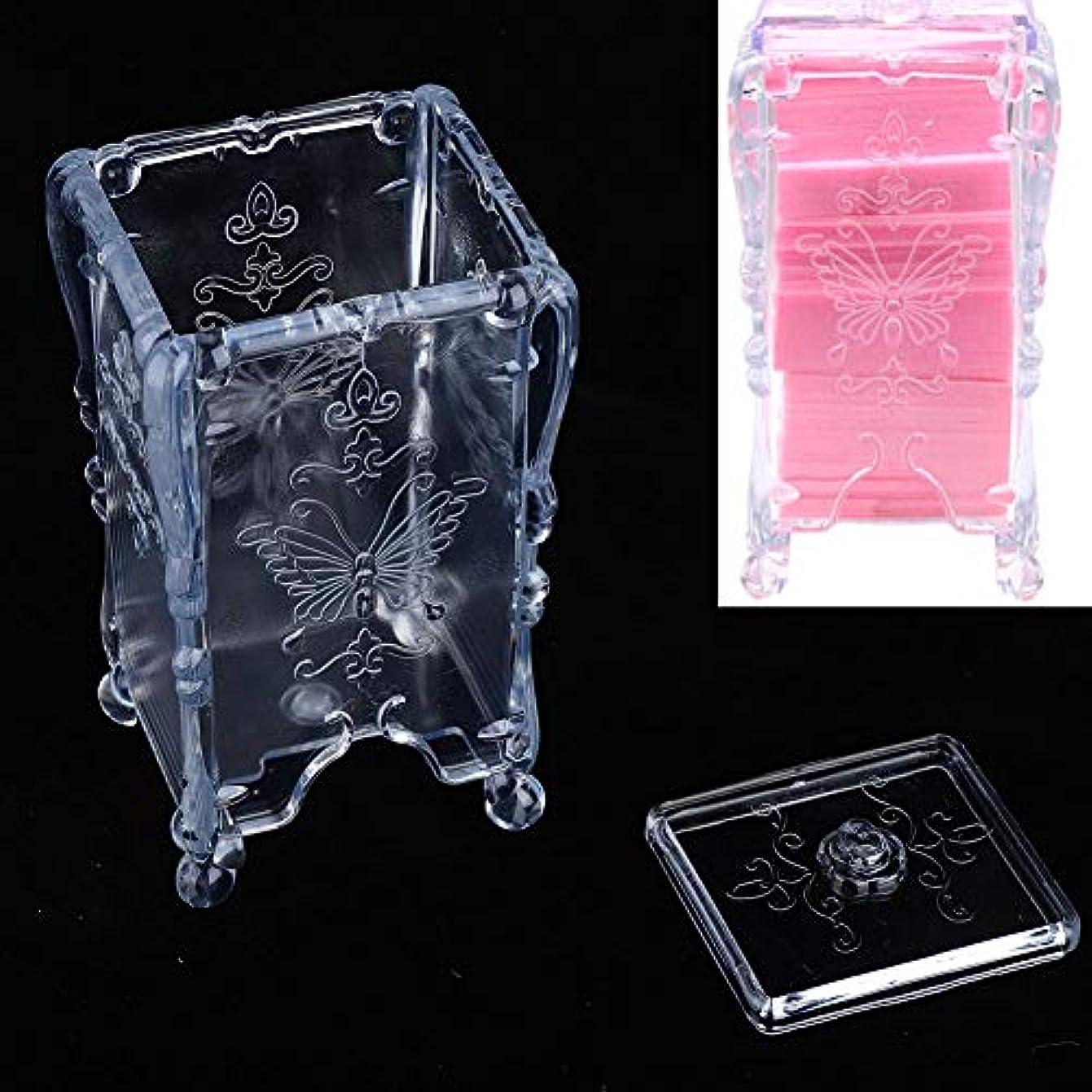 ぬれたワームほこりっぽい化粧綿収納ボックス 枕収納ボックス ネイルスワブリムーバー、化粧品オーガナイザー(透明)