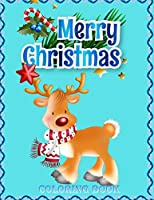 Merry Christmas Coloring Book: An Adult Coloring Book with Fun, Easy, and Relaxing Designs.And New and Expanded Editions, 100 Unique Designs, Ornaments, Christmas Trees, Wreaths, and More,(coloring book for kids).