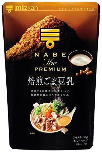 ミツカン NABE THE PREMIUM 焙煎ごま豆乳鍋つゆ 750g×2個