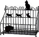 Abeille リモコンラック ネコ ブラック AIR-1355