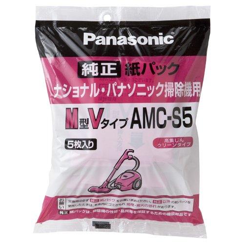 [パナソニック 4621225] 交換用紙パック(M型Vタイプ) 5枚入 AMC-S5