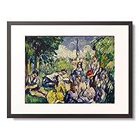 ポール・セザンヌ Paul Cézanne 「Fruhstuck im Grunen. 1873/1875.」 額装アート作品