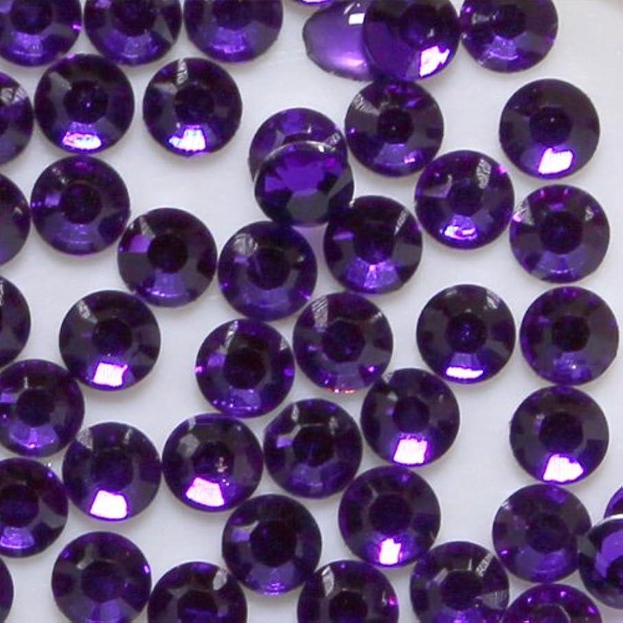 品ペニー投票高品質 アクリルストーン ラインストーン ラウンドフラット 約1000粒入り 3mm パープル