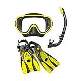 リーフツアラー(REEF TOURER) マスク&スノーケル&フィン 3点セット RP0102 1607 メンズ レディース BKFY(ブラックフラッシュイエロー) L