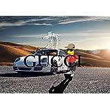 ポルシェ グッチ シュプリーム ナイキ 車 ファッション Canvas Panel キャンバスパネル ブランドオマージュアート Blues ブルース #cv-bl75 (P20サイズ : (727×530×D20mm))