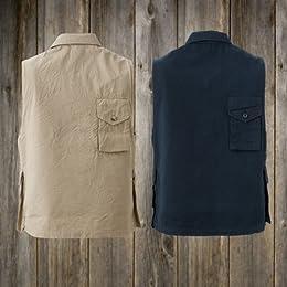 Waste (Twice) Hunter Vest: Tan, Navy