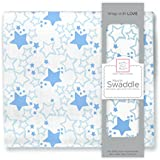 SwaddleDesignsモスリンSwaddle Blanket、ブルースターシャイン