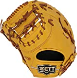ZETT(ゼット) 軟式野球 ウイニングロード ファーストミット 新軟式ボール対応 トゥルーイエロー×オークブラウン(5436) 左投げ用 BRFB33913