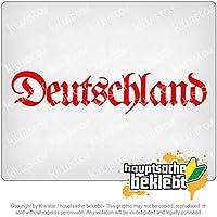 ドイツ古ドイツ語 Germany old German 20cm x 5cm 15色 - ネオン+クロム! ステッカービニールオートバイ