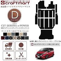 c27 セレナ e-POWER フロアマット+ステップマット+ラゲッジマット DXマット H30/3~現行モデル 車1台分 フロアマット 日産 純正 TYPE 超ロングスライドシート、プレーンベージュ