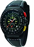 [モントレス・デ・ラックス]MONTRES DE LUXE 腕時計 BLACK AVIO TACHYMETER BK4003 ケース幅: 40mm メンズ [正規輸入品]