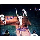MLBニューヨークメッツビル・バックナー/ Mookieウィルソンデュアル署名写真with