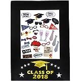 2018年卒業写真ブース小道具、卒業式装飾、miniteasure卒業写真小道具と画像フレーム、パーティー用品装飾30個パックPlus 1画像フレーム