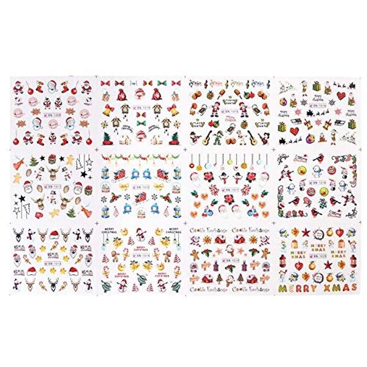 精度脱獄委員長SUKTI&XIAO ネイルステッカー 12デザインネイルアートステッカースライダーラップ装飾マニキュア透かしタトゥー