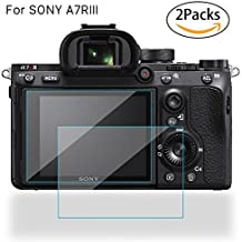 STSEETOP Screen Protector for Sony Alpha A7III / A7R III, 2 Pack Tempered Glass Protective Screen Guard for Sony Alpha A73 A7R3 A7III A7RIII