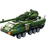 子供の教育玩具 ビルディングブロック子供のおもちゃ組み立てキッズ3-12歳八体軍戦車小粒子パズル 少年少女のためのビルディングブロック教育ギフト (Color : Multi-colored, Size : One size)