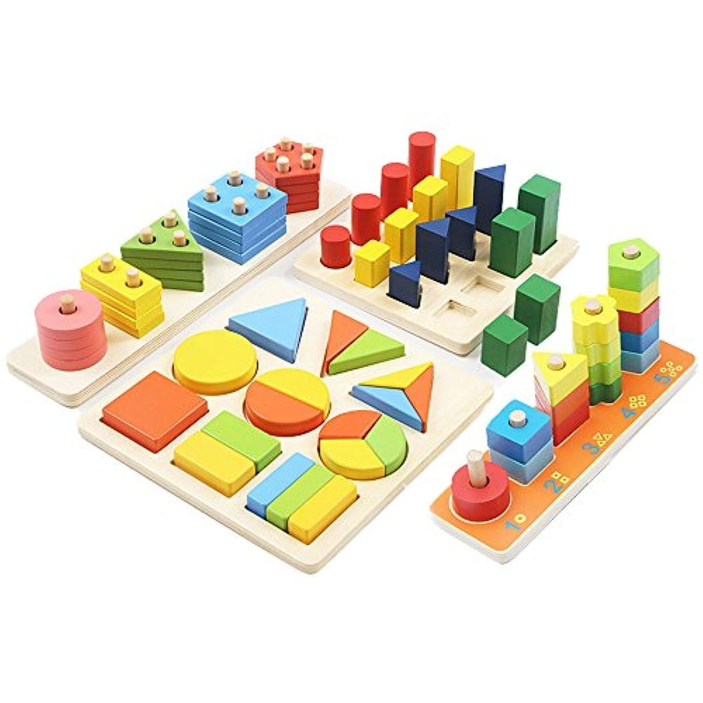 baby-mine(ベイビーマイン) 木製 おもちゃ パズル ペグさし 積み木 知育 玩具