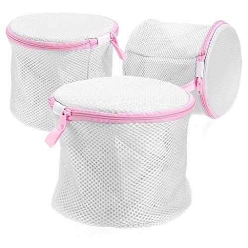 MYT ネットメッシュ洗濯機バッグブラジャー洗濯バッグ下着バッグソックスランジェリーブラジャーバッグ旅行のストレージ (3 set)