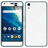 液晶保護フィルム付 Android One S4 専用 デコ シート decotto 表面・裏面対応 パレットホワイト柄 スキンシール