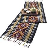 イカット(ロング) G 【インドネシアの飾り布、テーブルランナー タペストリー 壁掛け 箪笥の上掛け】 約175×40cm、和風洋風を問わず便利に使えるインテリアクロス