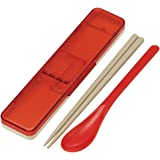 スケーター コンビセット 箸 スプーン セット 銀イオン Ag+ 抗菌 レトロフレンチ オレンジ レッド 日本製 18cm CCS3SAAG