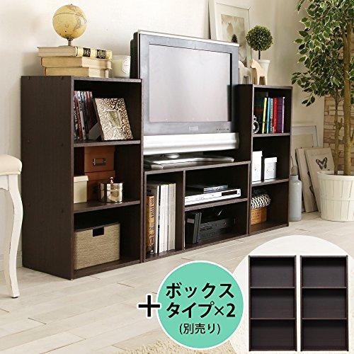 アイリスオーヤマ テレビ台 モジュールボックス 幅約73.2x奥行約29.0x高さ約36.6cm ブラウンオーク MDB-3S