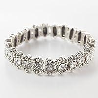 フィリップ・オーディベール ブレスレット New Amelia blacelet silver color,Crystal Rhinestones BR0918【並行輸入品】