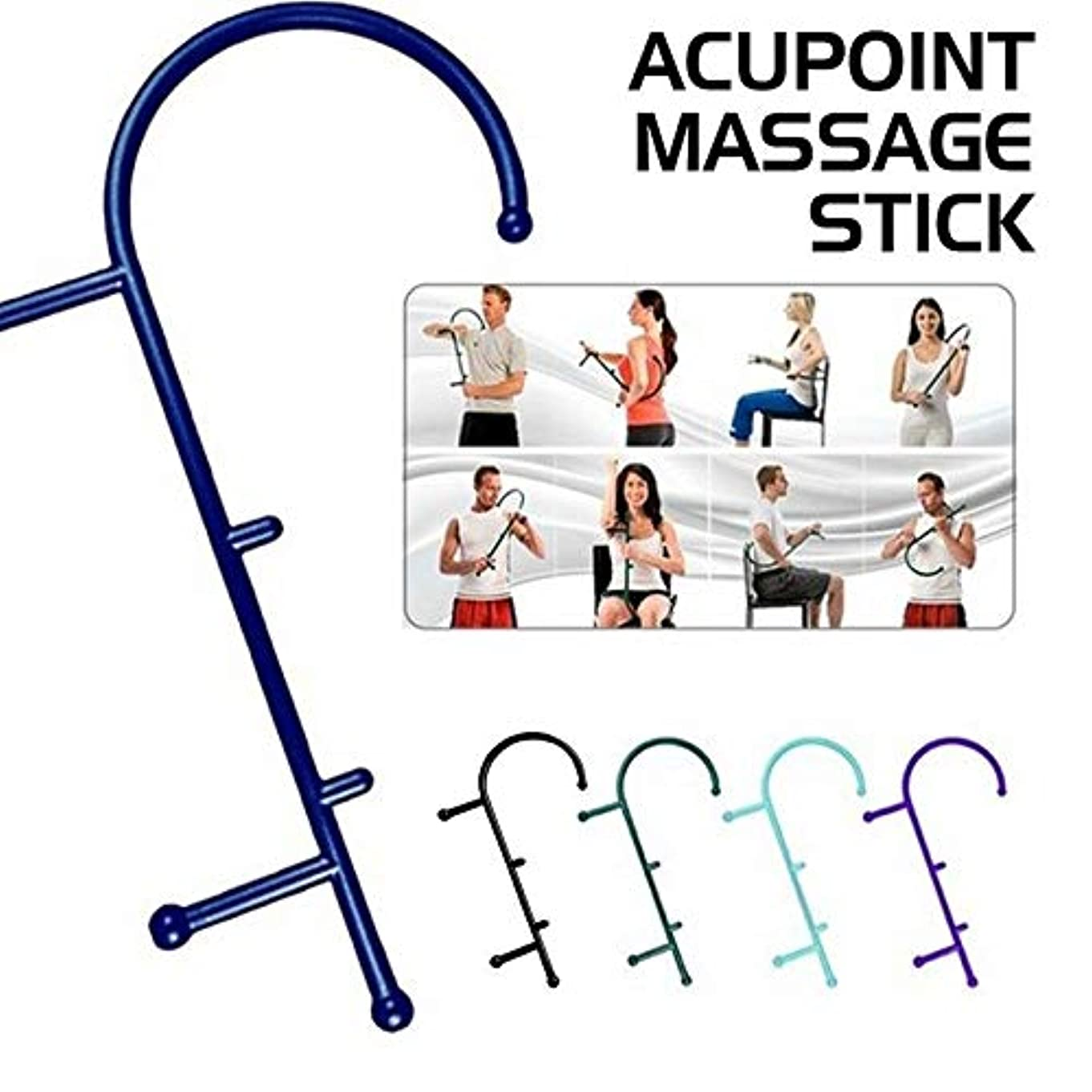 アナウンサーブルゴーニュハンサムFull Body Cane Back Hook Massager Neck Self Muscle Pressure Stick Tool Acupoint Massage St