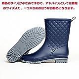 Smiry レインシューズ レディース レインブーツ ショートブーツ ヒール 長靴 おしゃれ 防水 雨靴 梅雨対策 歩きやすい 4色(22.5cm~25.5cm)