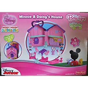 Disney ディズニー Mickey Mouse ミッキーマウス Clubhouse Minnie & Daisy's House Fisher Price フィッシャープライス フィギュア 人形 おもちゃ (並行輸入)
