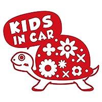 imoninn KIDS in car ステッカー 【パッケージ版】 No.53 カメさん (赤色)