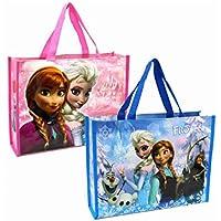 バイヤーズ Disney ディズニー アナと雪の女王 トートバッグ レッスンバック 横型 A4対応 A4サイズが横にすっぽり入る バッグ 習い事やサブバッグ プールバッグに大活躍 2枚セット