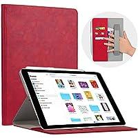 Cresee iPad pro 10.5 ケース 新型 合革レザー 高級 多角度 スタンドケース カード収納 ハンドバンド タッチペンホルダー付き オートスリープ機能 おもい ビジネス アイパッド タブレット 保護カバー おしゃれ 耐衝撃 (レッド)