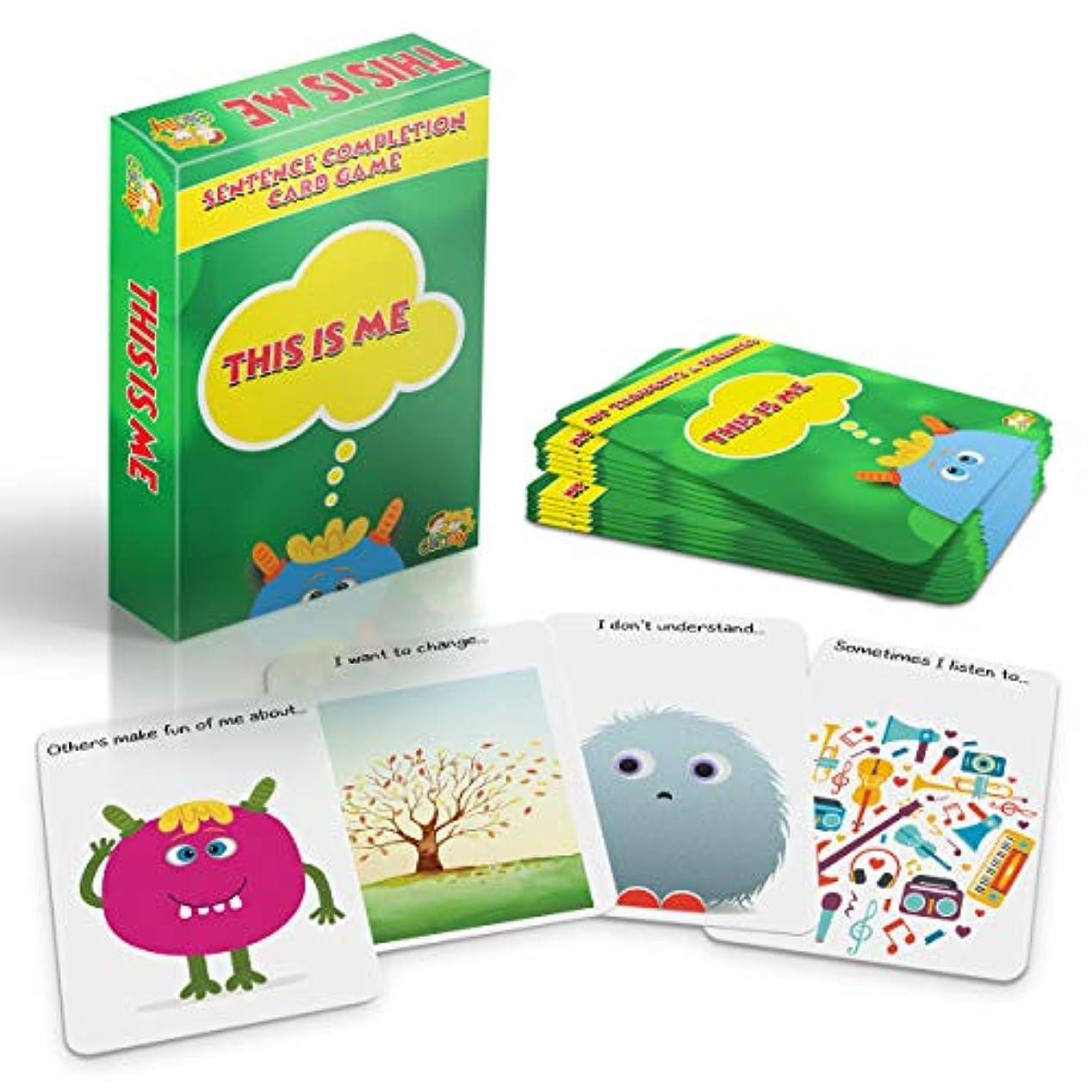 下手韻盲信Cadily This is Me: Sentence Completion Therapyゲーム。 社会的スキルゲームとして使用。 カウンセリングゲームやスクールゲーム。 ご両親やプロにプレイセラピートイで、子供たちに気持ちを表現することを教えます。