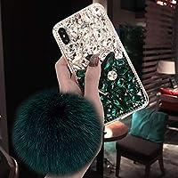 iPhone XS ケース おしゃれ 耐衝撃 iphoneX ケース 人気 キラキラ 保護キャップ アイホンXS/X 5.8インチ用ケース カバー ダイヤモンド ゴージャス 携帯カバー グリーン MICB818
