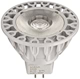 Bulbrite SM16-07-25D-930-03 SORAA 7.5W LED MR16 3000K VIVID3 25ツー Dimmable Light Bulb, Silver [並行輸入品]
