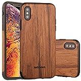 iphoneXRケース iphoneXRケース 木製 カバー 超薄 超軽量 高品質 おしゃれ おもしろ 耐衝撃 全面保護 (D-iphoneXr-6.1-紫檀)