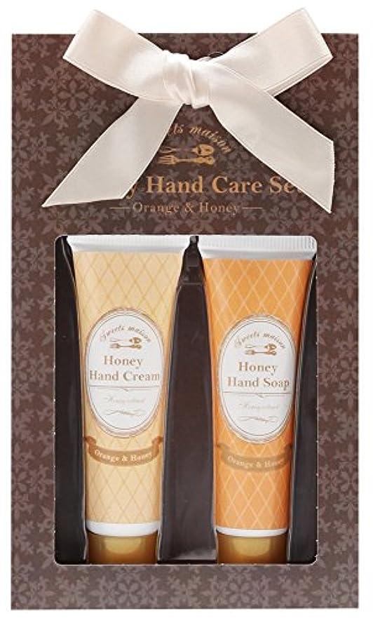 慢な洗剤適切にノルコーポレーション ハンドクリーム ハンドソープ ハニーハンドケアセット オレンジ&ハニーの香り OB-SMP-7-1