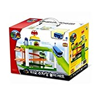 Tayo Bus Parking Lot Play Set + Mini Bus 4ea ( Rogi + Gani + Rani + Citu) + Mini Bus's Friends Set 6ea Korea Childrens