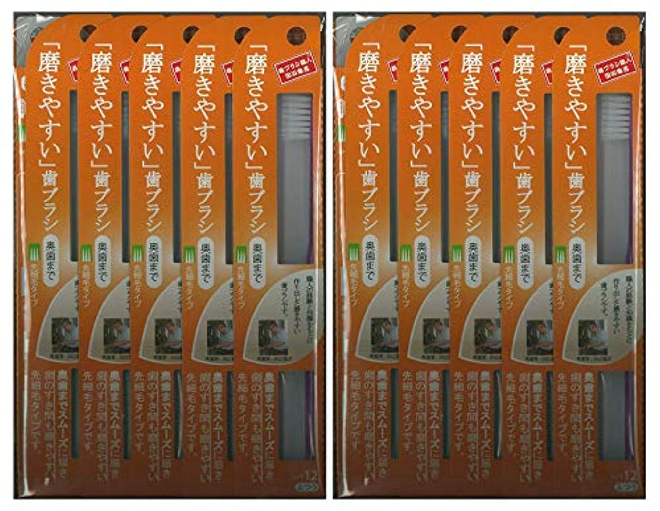 かび臭い定義上がる歯ブラシ職人 田辺重吉考案 磨きやすい歯ブラシ ふつう (奥歯まで)先細 LT-12 1本入×24本セット