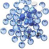 【ラインストーン77】 超高級 ガラス製ラインストーン SS4~SS40 ライトサファイア スワロフスキー同等 (2.6mm (SS10) 約200粒)